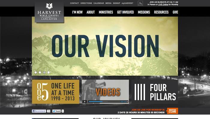Harvest Bible Chapel 15 of the Best Church Website Designs - 2013 15 of the Best Church Website Designs – 2013 Harvest Bible Chapel Lancaster 20130620 121914