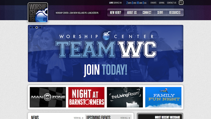 Worship Center 15 of the Best Church Website Designs - 2013 15 of the Best Church Website Designs – 2013 Worship Center a church in Lancaster Pennsylvania 20130620 121553