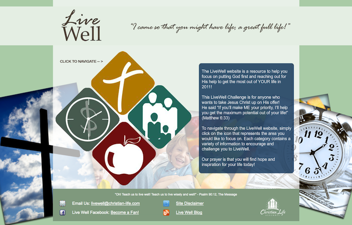 Live Well CLA 15 of the Best Church Website Designs - 2013 15 of the Best Church Website Designs – 2013 Live Well CLA 20130620 114226