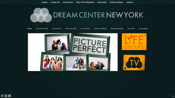 Dream Center NY 15 of the Best Church Website Designs - 2013 15 of the Best Church Website Designs – 2013 New York Dream Center Home Home 20130620 114247