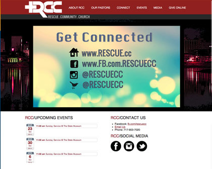Rescue Community Church Website [object object] Our Work rcc work
