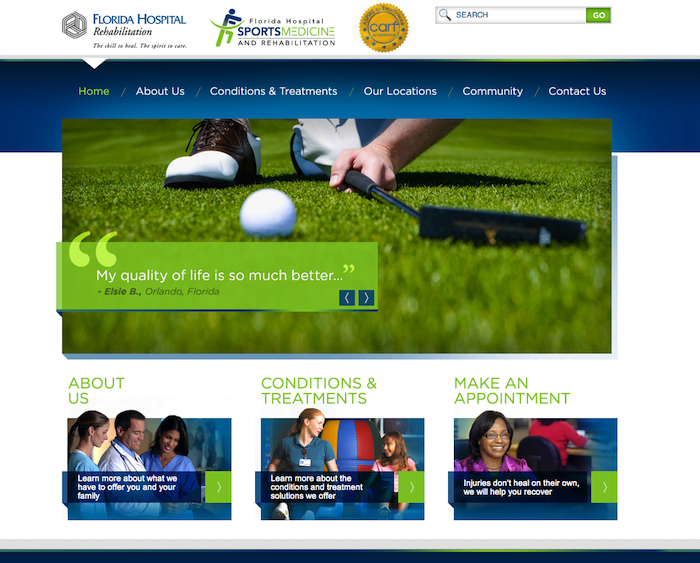 florida-hospital 10 of the Best Medical Websites for Inspiration for 2014 10 of the Best Medical Websites for Inspiration for 2014 florida hospital