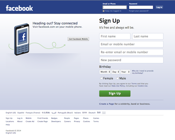 Facebook Login Page  Does your Facebook Fan Page Makes You Log-In to View It? facebook login