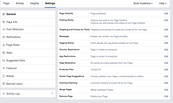 page-settings  Does your Facebook Fan Page Makes You Log-In to View It? page settings