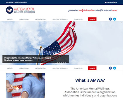 The American Mental Wellness Association [object object] Davo Productions Home amwa screen